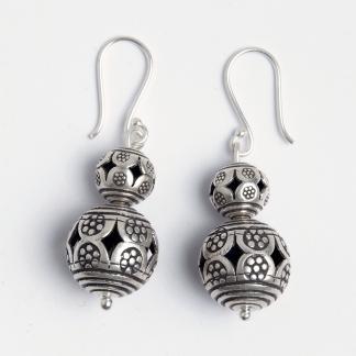 Cercei biluțe Ruthai, argint, Thailanda