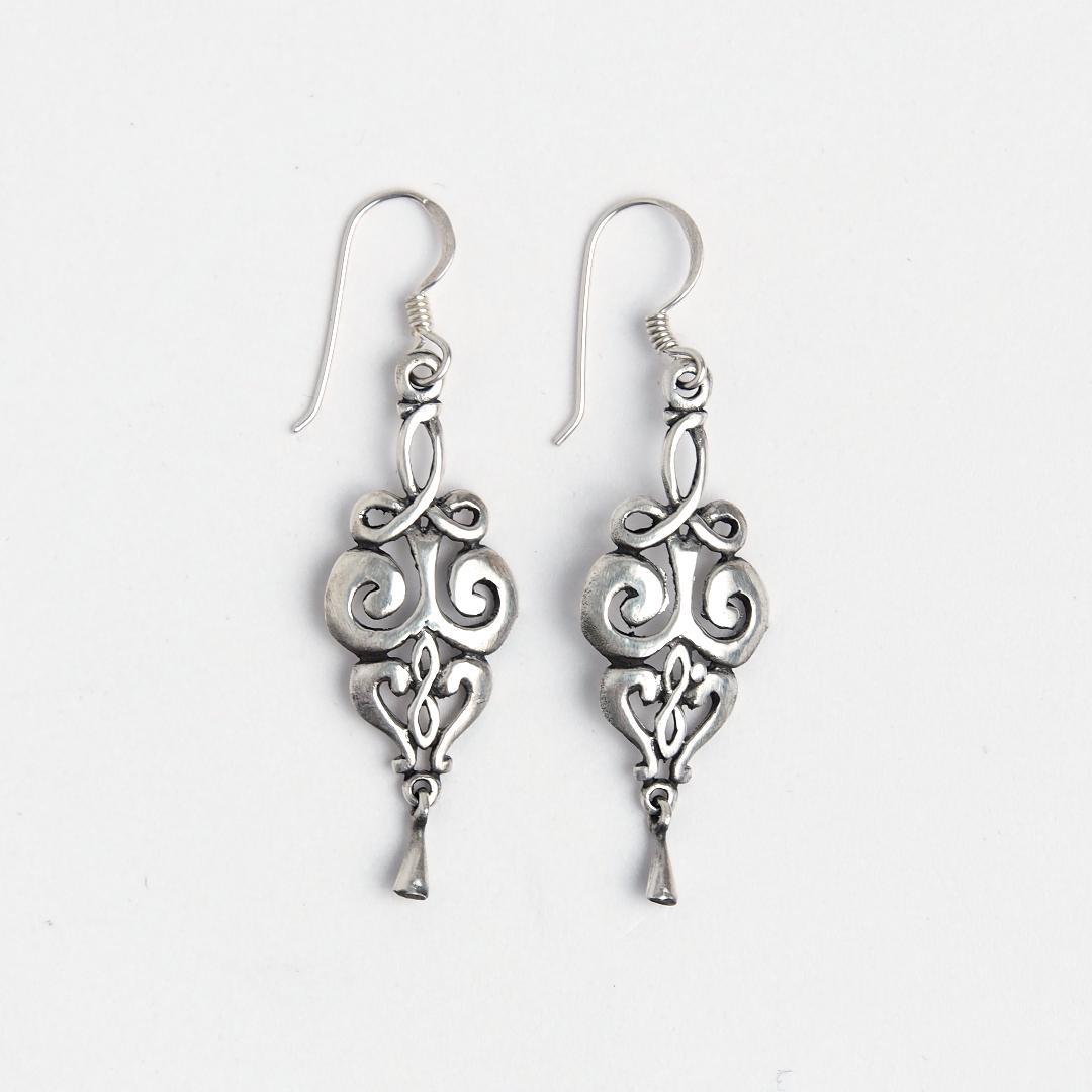Cercei celtici lungi Kells, argint