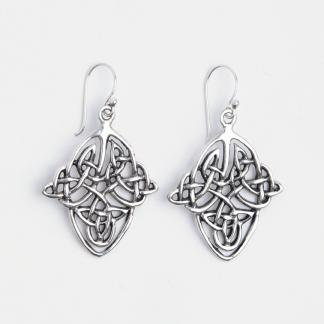 Cercei celtici romb, argint