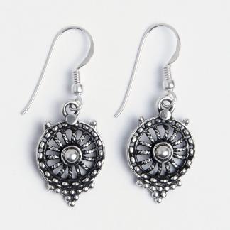 Cercei floricică Syna, argint, India