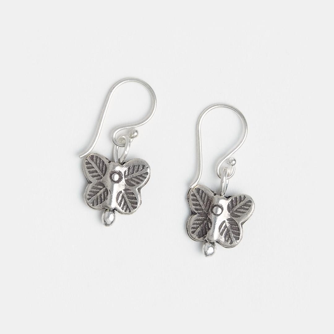 Cercei fluturaș mic din argint, Thailanda