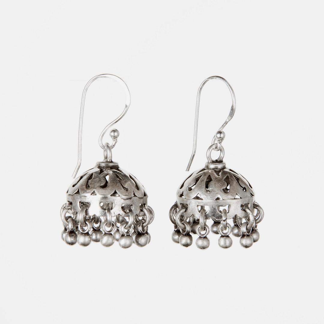 Cercei jhumka, argint, India