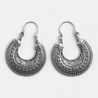 Cercei medii Madras, argint, India