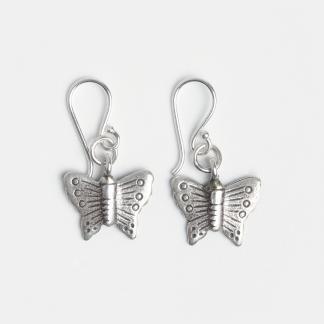 Cercei mici fluturaș din argint, Thailanda