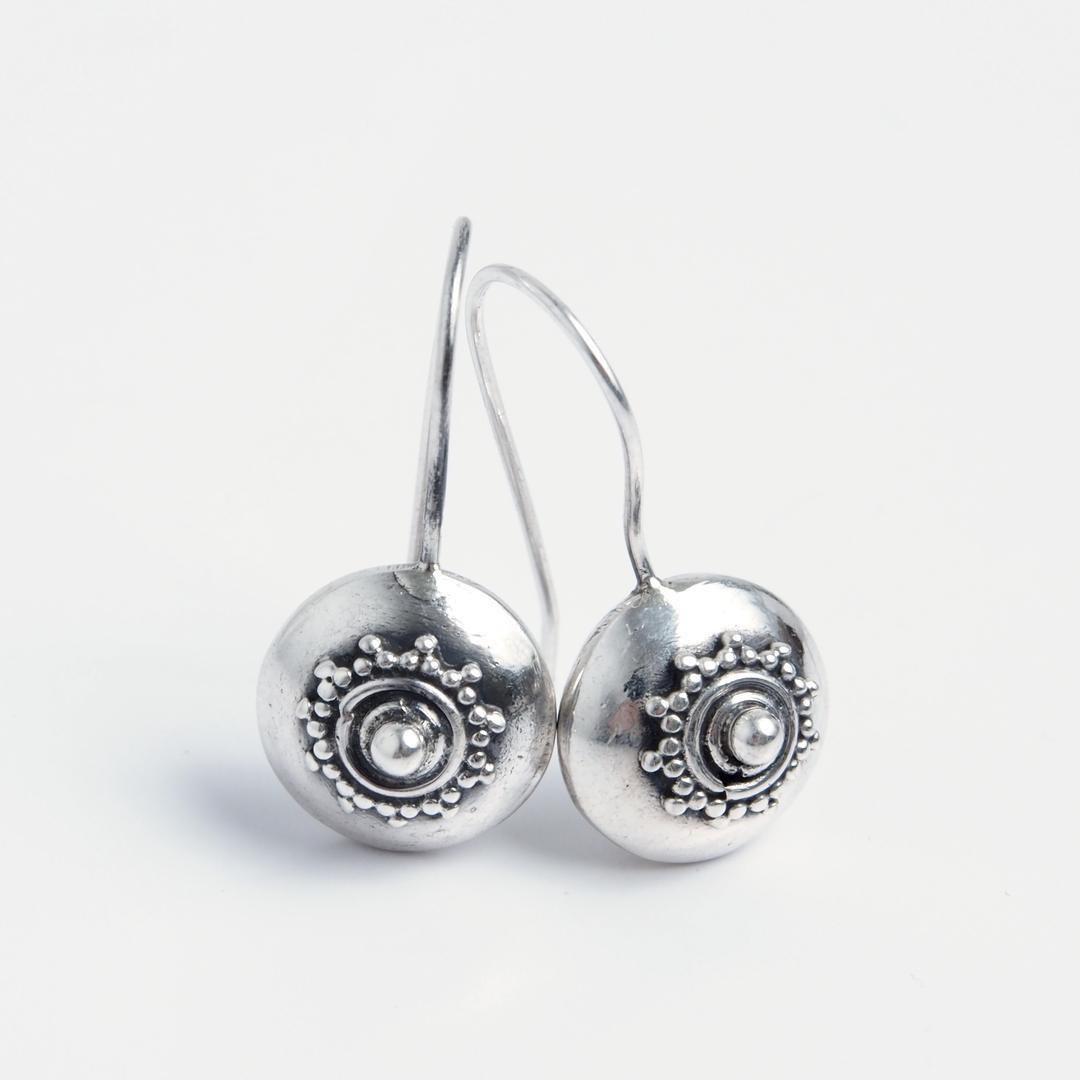 Cercei mici Miya, argint, India