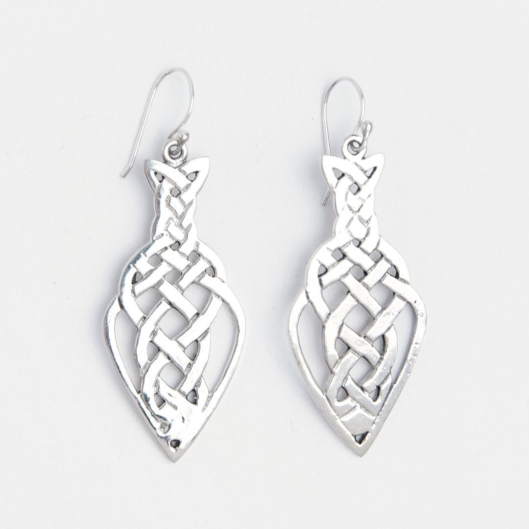 Cercei pește nod celtic, argint