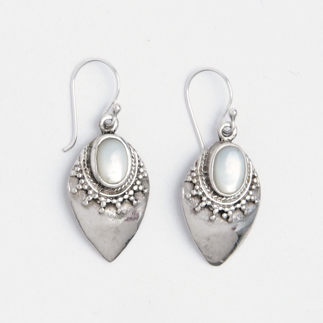 Cercei Pura, argint și sidef, Indonezia