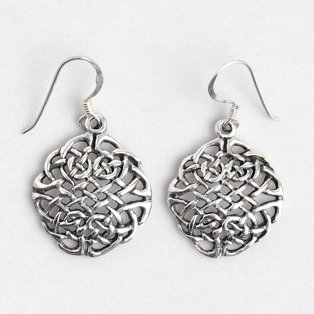 Cercei rotunzi celtici, argint