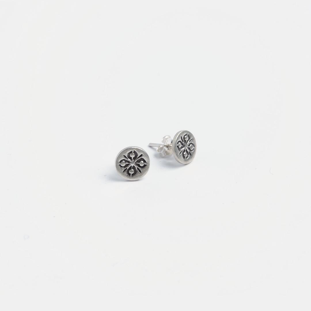 Cercei rotunzi cu șurub Isra, argint, Thailanda