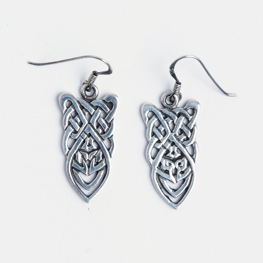 Cercei scut celtic, argint