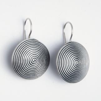 Cercei spirală Khajee, argint, Thailanda