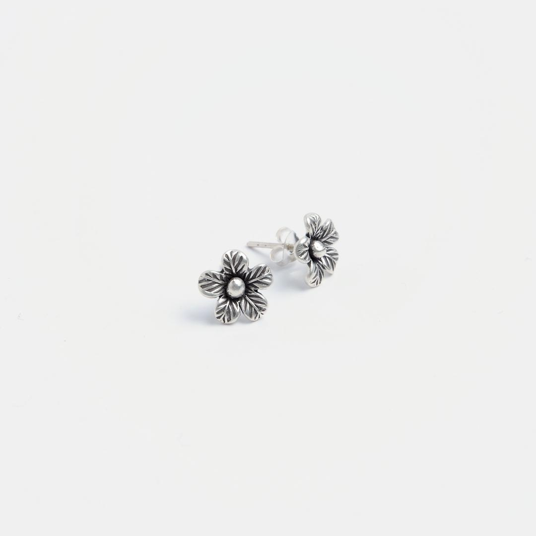 Cercei cu șurub floricică Chim, argint, Thailanda