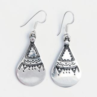 Cercei Tamasheq, argint gravat, Niger
