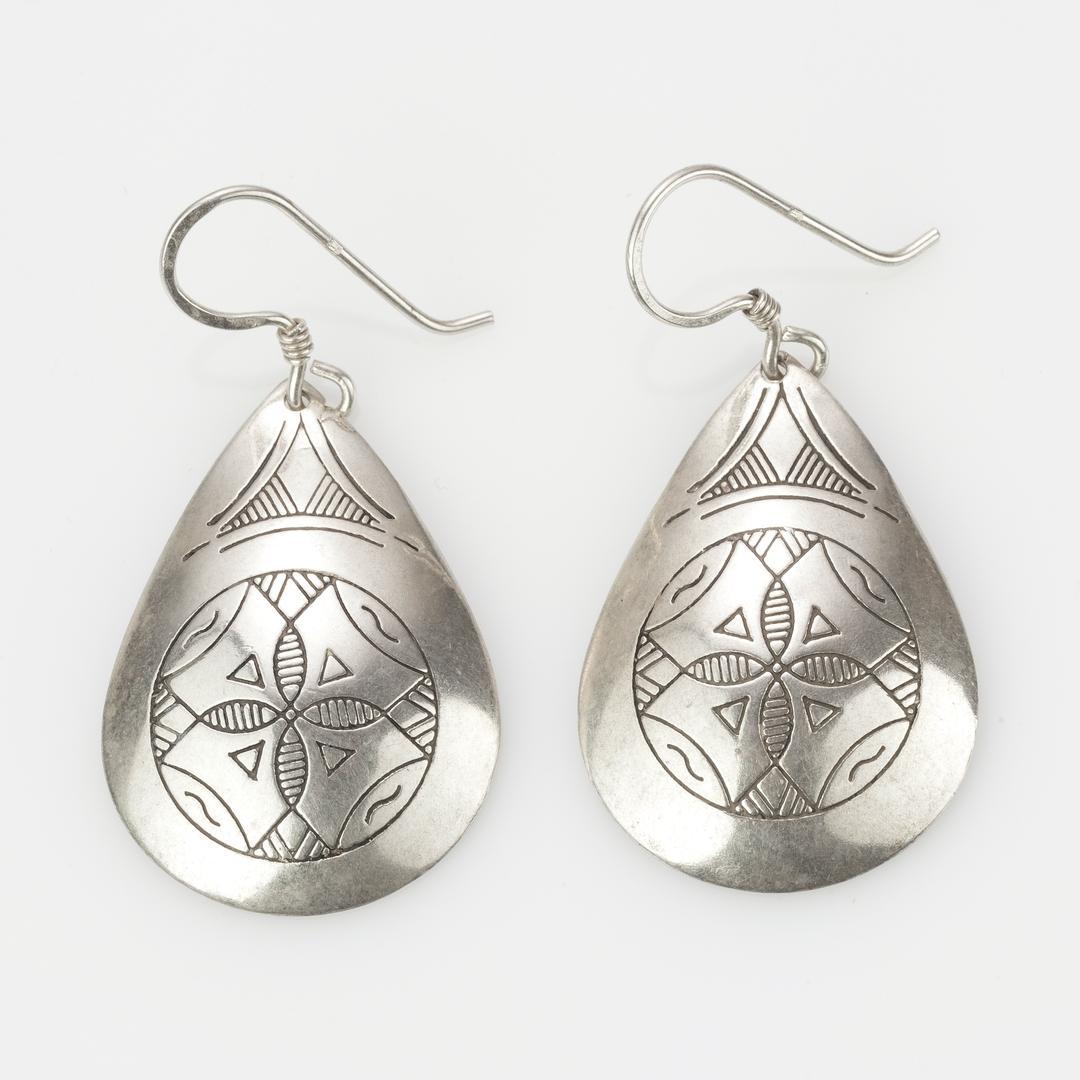 Cercei tuaregi convecși, argint