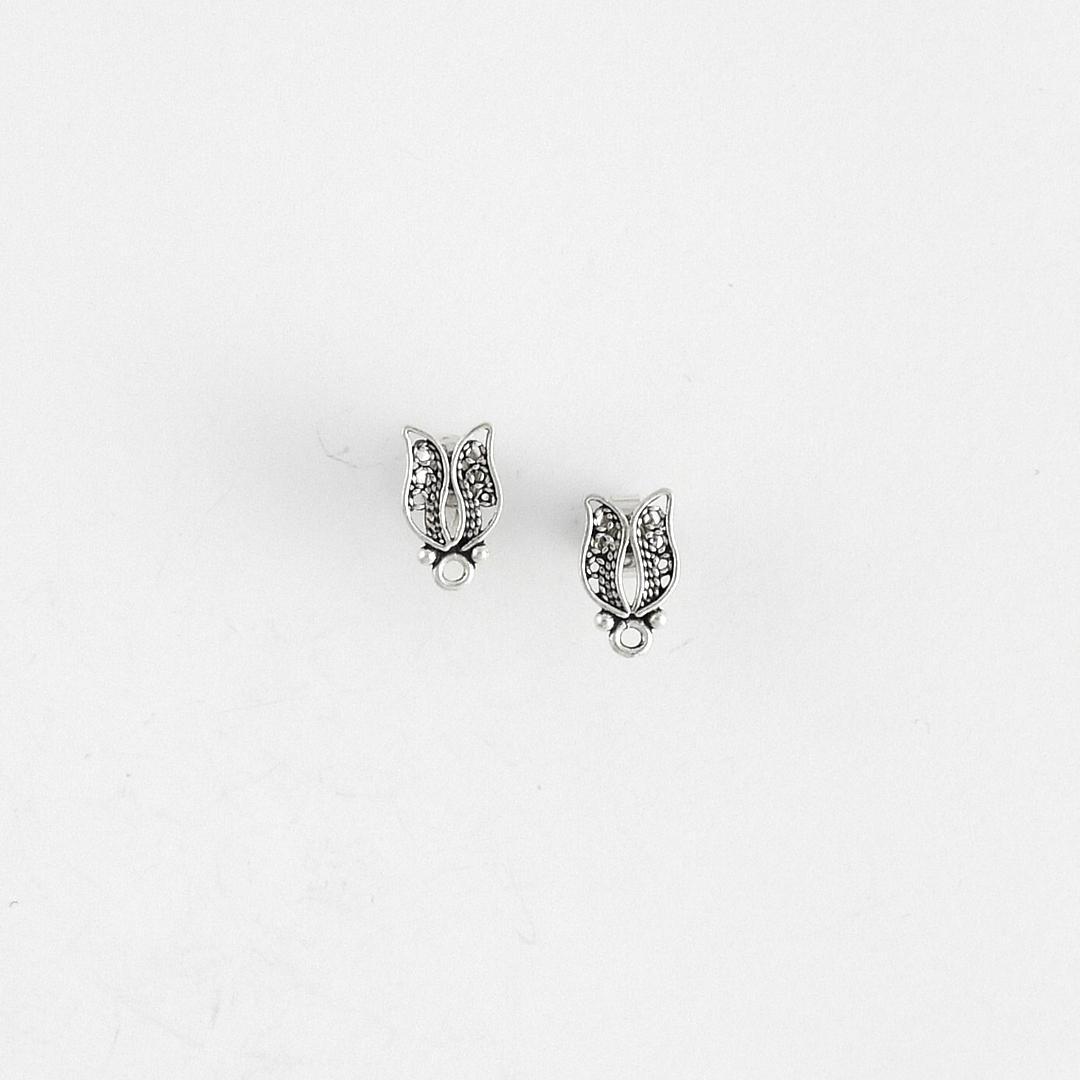 Cercei turcești lale argint filigran