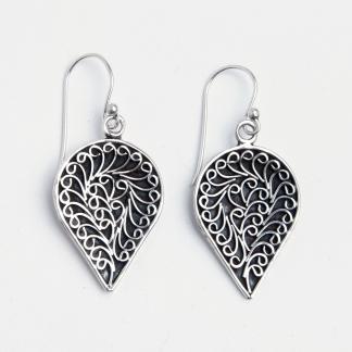 Cercei yoni, argint, India