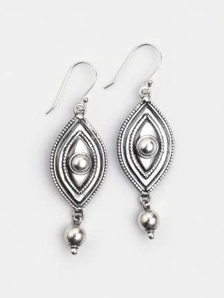 Cercei lungi din argint Bihar, India