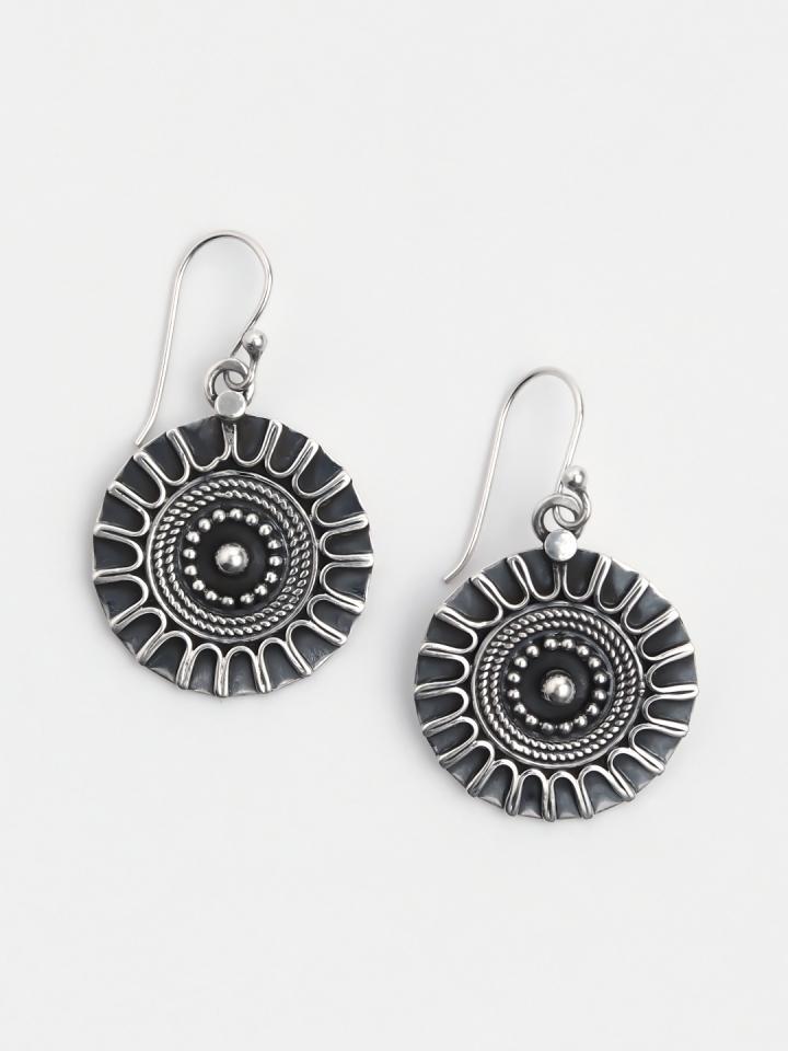 Cercei amuletă din argint Manbir, India