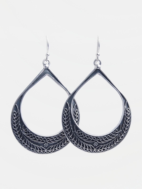 Cercei statement argint Akshay, India