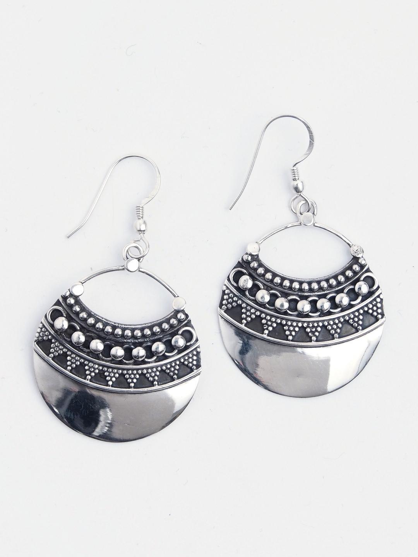 Cercei statement rotunzi argint Diya, India