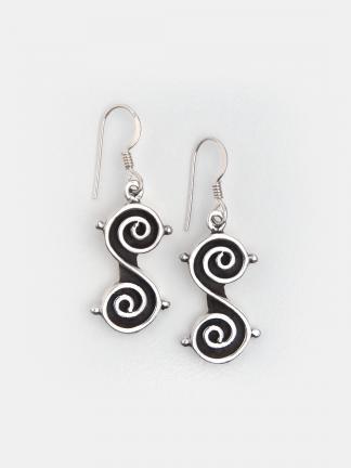 Cercei argint spirală Kundalee, India