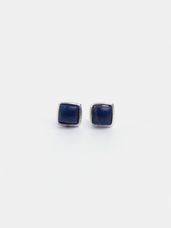 Cercei cu șurub din argint și lapis lazuli Uttar, India