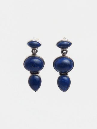 Cercei argint și lapis lazuli Sareek, India