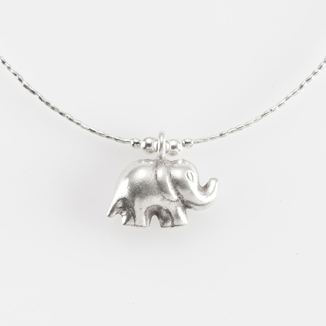 Colier elefant, argint, Thailanda