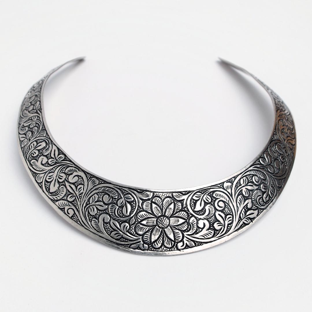 Colier statement argint Humayun, India