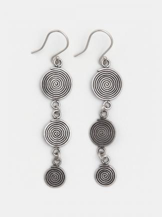 Cercei trei spirale din argint Samsam, Thailanda