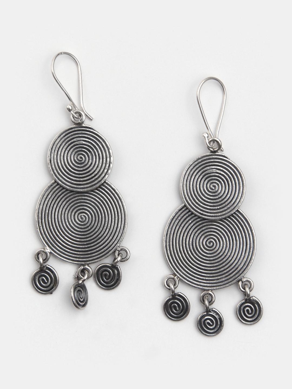 Cercei statement spirale din argint Songkhran, Thailanda