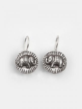 Cercei elefant din argint Chang, Thailanda