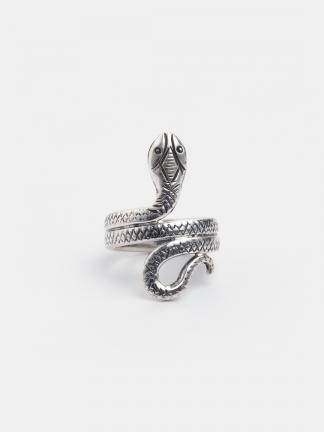 Inel șarpe Nagat, argint, India