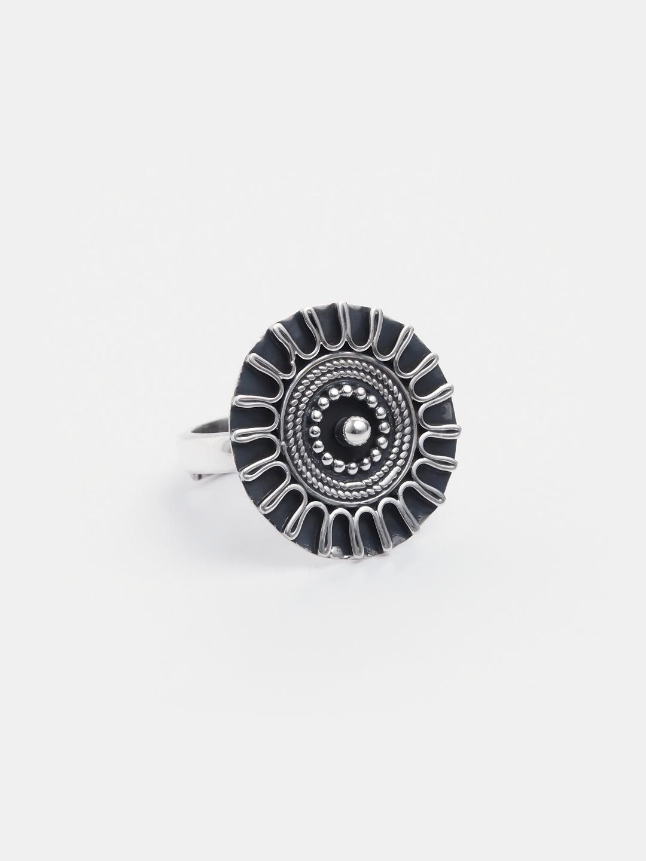 Inel amuletă argint Manbir, India