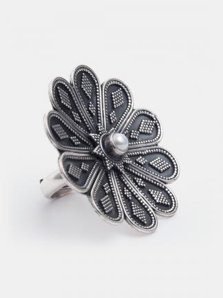 Inel unicat argint și perlă Arynia, India