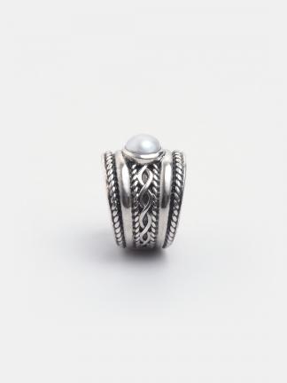 Inel argint și perlă Arrush, India
