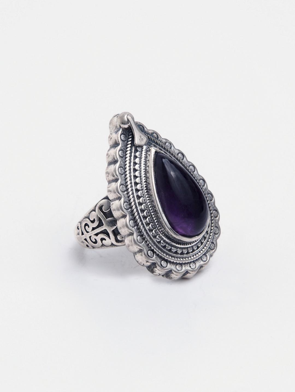 Inel unicat argint și ametist, India