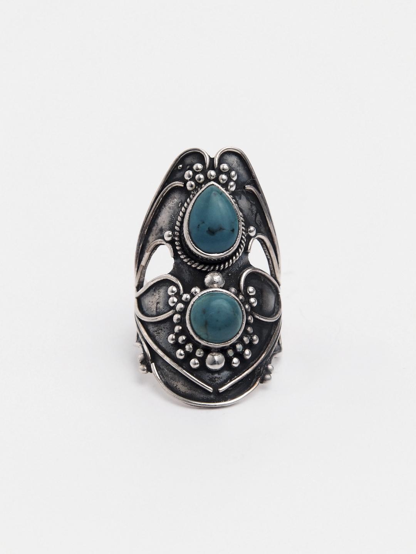 Inel unicat argint și turcoaz, India
