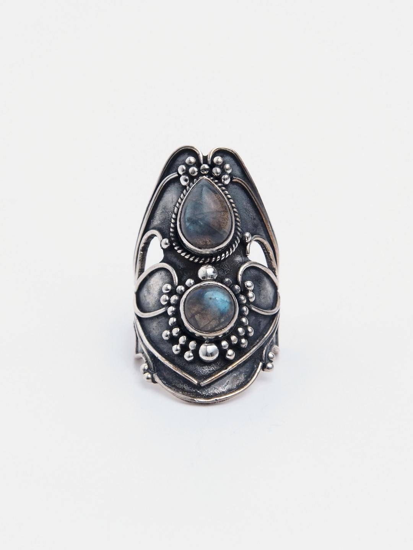 Inel unicat argint și labaradorit, India