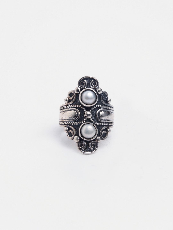 Inel unicat argint și perlă, India
