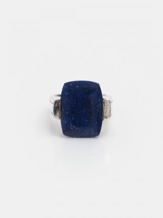 Inel argint și lapis lazuli fațetat Khona, India