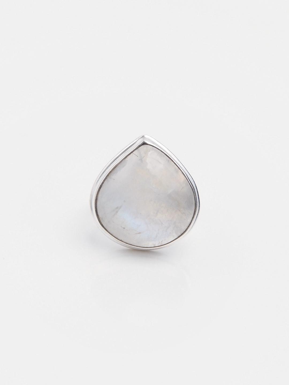 Inel unicat argint și piatra lunii, India