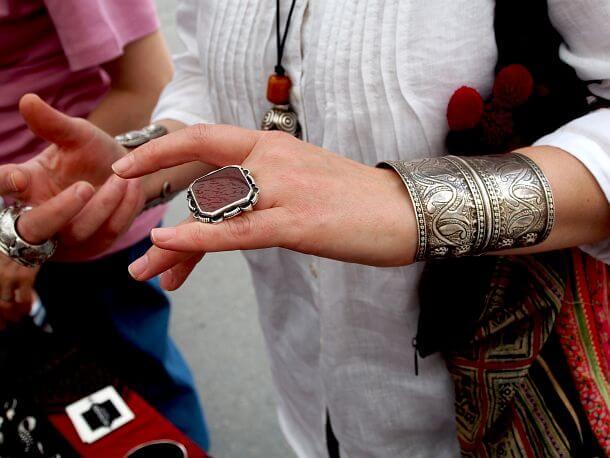 Bijuterii afgane argint