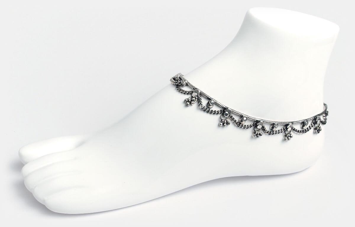 Brățări de picior din argint, India