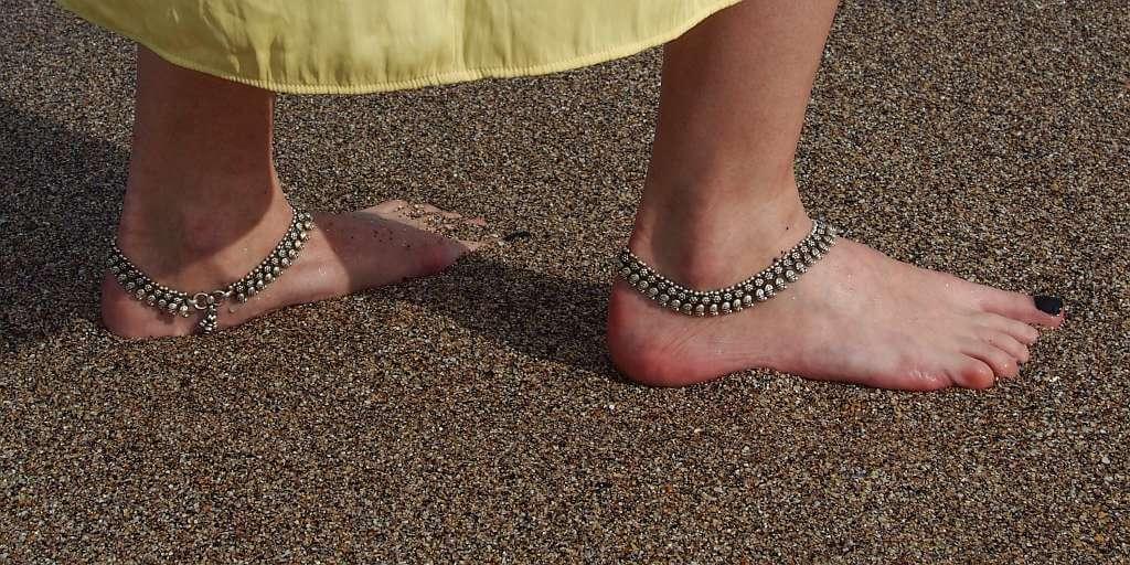Brățări de picior din argint