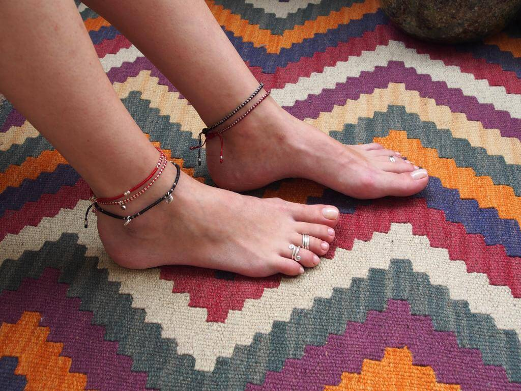 Brățari și inele de picior argint