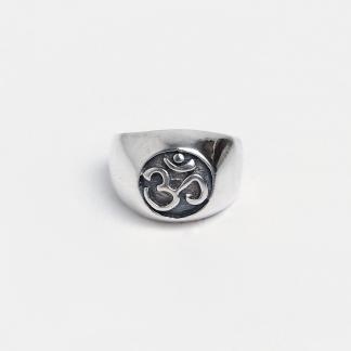 Inel amuletă din argint Om, argint, Nepal