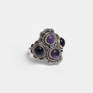 Inel din argint și ametist Yatra, India
