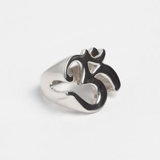 Inel din argint amuletă simbol Om, Nepal