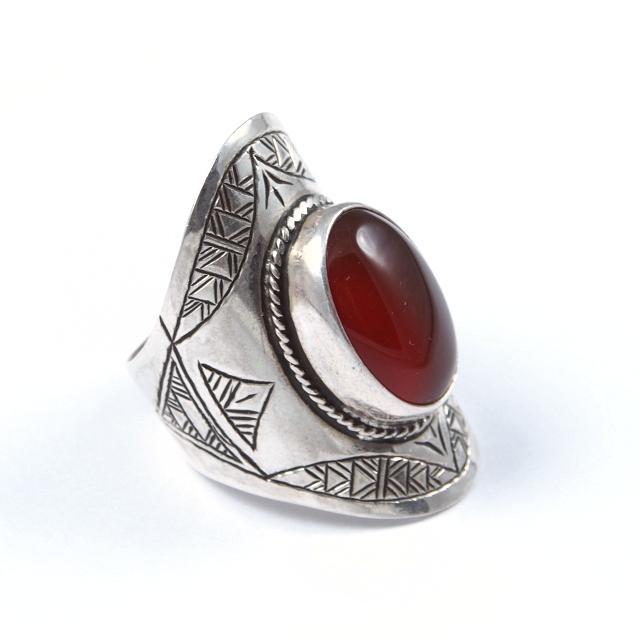 Inel argint și cornalină, Sahara
